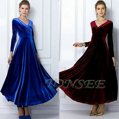 Women Formal Long Evening Party Ball Prom Gown Wedding Bridesmaid Cocktail Dress