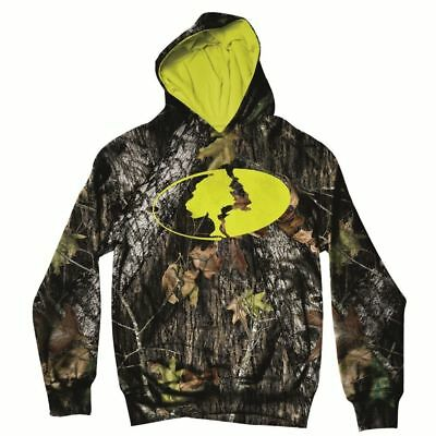 Mossy Oak YOUTH Camo Logo Hoodie Sweatshirt (Break-Up / Green) MOI8000.188