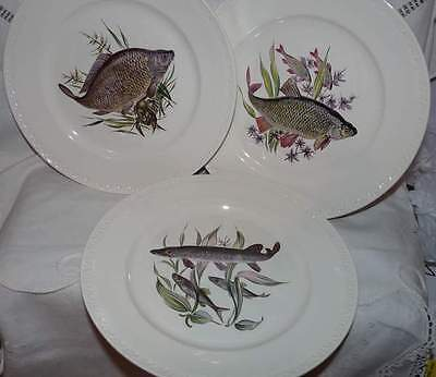 Villeroy & Boch. 3 Fish Dinner Plates.Never used. Luxembourg.