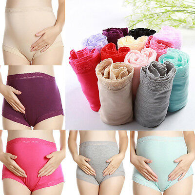 Pregnant Women Solid Underwear Maternity Cotton Panties Briefs Care Belly Shorts