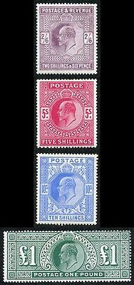 KEVII High Value Set of Four lightly M/Mint