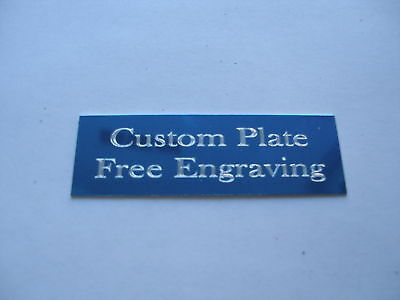 """Engraved Plate trophy Taxidermy 1""""x 3"""" blue aluminum lot of 72 plates"""