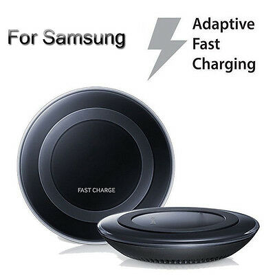 New Genuine Fast Qi Wireless Charger Pad Charging For Samsung Galaxy S7 Edge S6