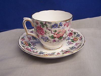 "Crown Staffordshire   ""springtime""  Cup And Saucer"