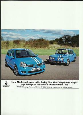 Renault Clio Renaultsport And 8 Gordini Press Photo 'sales Brochure' 2004 - 3 Of