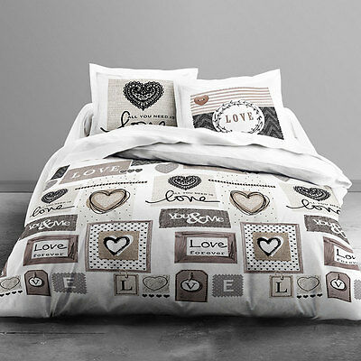 Housse de couette - 240 x 260 cm + taies - Love forever
