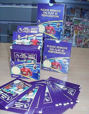 Topps Merlin's Premier League 2017 Stickers: quantity: 10 25 50 packets or Box