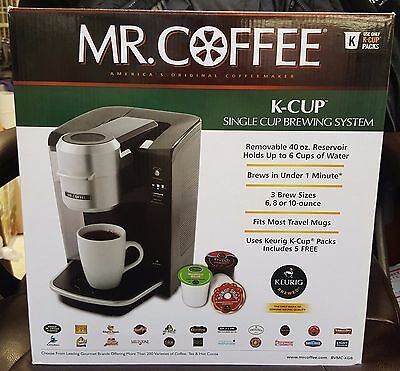 Mr. Coffee Single Serve Coffee Brewer BVMC-KG6 40-Ounce Reservoir NEW