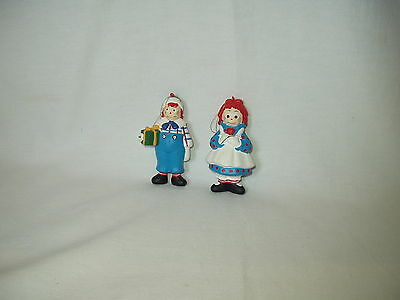 "RAGGEDY ANN & ANDY 4"" Macmillan Inc ORNAMENT figures dated 1992"