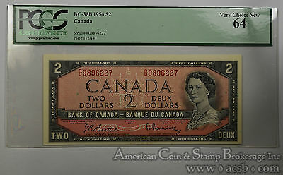 Canada $2 Dollars MS64 PCGS 1954 BC-38b Bank Canada Elizabeth II Ultra Choice