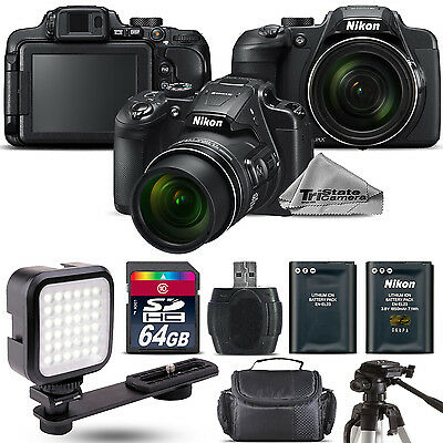Nikon COOLPIX B700 Digital 20.2MP 4K WiFi NFC Camera 60x Zoom + LED - 64GB Kit