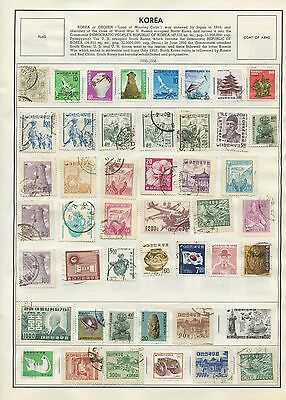 KOREA--Accumulation of 219 stamps Mounted