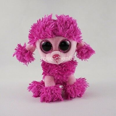 """6"""" TY Beanie Boos Patsy Pink Poodle Dog Soft Stuffed Animals Girl Toys Gift"""
