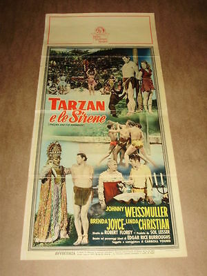 TARZAN E LE SIRENE locandina WEISSMULLER , MERMAIDS cinema movie poster