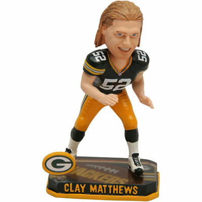 Clay Matthews Green Bay Packers Springy Logo Bobble Head Figurine - NFL
