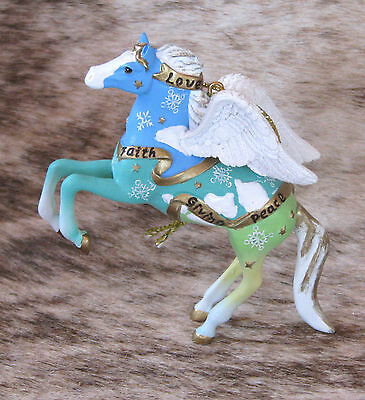 """TRAIL OF PAINTED PONIES Guardian Angel 2016 Ornament~3.25"""" Tall~Joy, Hope, Love~"""