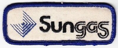 Sun Gas on white Twill Patch