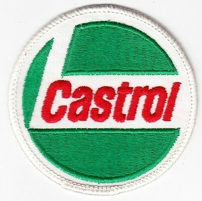 Castrol Oil on White Twill Patch