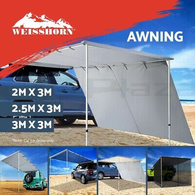 2M-3M Car Side Awning Extension Roof Rack Top Tents Side Shades Camping 4X4 4WD