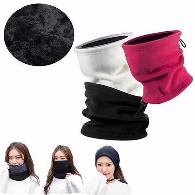 3in1 Winter Hat Thermal Wool Fleece Scarf Snood Neck Warmer Beanie Face Ski Mask