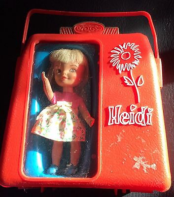 Vintage Heidi A Pocketbook Doll With Extra Dress Trade Mark By Remco