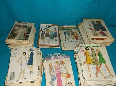 Lot Of 70 Vintage 1960's -70's Dress Patterns  All Size 10 Butterick Simplicity