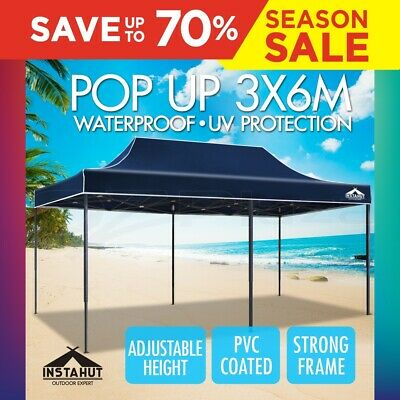 3X6M Pop Up Folding Gazebo Outdoor Marquee Party Canopy Market Tent