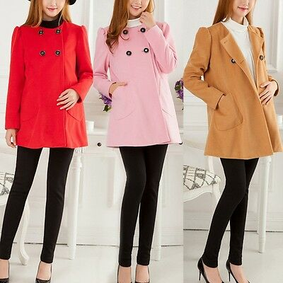 New Winter Maternity Coat Crewneck Loose Woman Jacket Double-Breasted Outerwear
