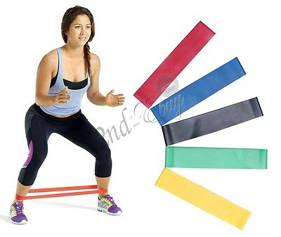 Set of 5 Resistance Loop Bands Mini Band for Exercise Crossfit Strength Fitness
