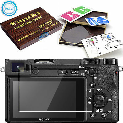 9H Hard Tempered Glass LCD Screen Protector film Cover Skin For Sony Alpha A6500