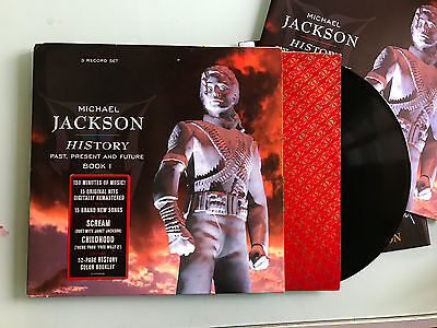 3 LP 1995  Michael Jackson ‎– HIStory - Past, Present And Future - Book I