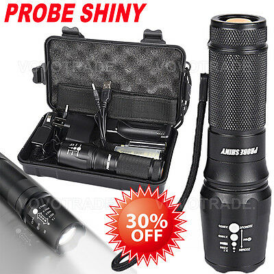5000Lumens Shadowhawk X800 Tactical Flashlight LED Zoom Military Torch G700