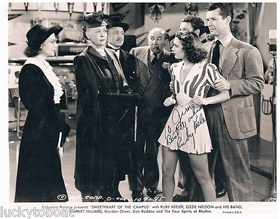 Sweetheart Of The Campus 1945 Autographed RUBY KEELER OZZIE NELSON AND HIS BAND