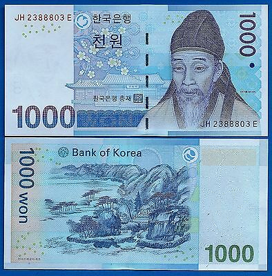 Korea South P-54 1000 Won Year ND 2007 Uncirculated FREE SHIPPING