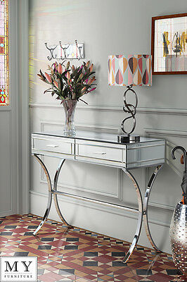 MY-Furniture  Mirrored and Chrome Dressing Console/Table AURELIA
