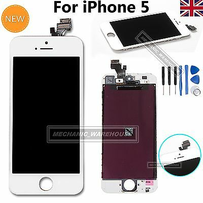 For iPhone 5 5G LCD Digitizer Touch Screen Display Assembly Replacement White UK