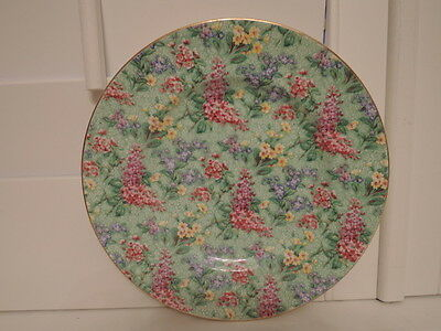 """Vintage Empire Ware Chintz lilac Time 9"""" Dinner Plate"""