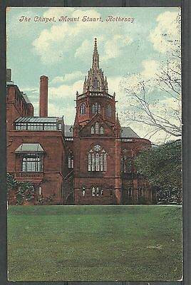 Postcard : Isle of Bute Rothesay The Chapel at Mount Stuart posted 1907