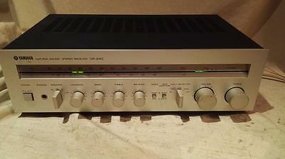 Vintage Yamaha Cr 240 Stereo Fm/am Receiver , Working Well,  Great Retro Styling