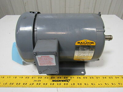 Baldor M3611 3 HP Electric Motor 3PH 208-230/460V 1725RPM 184 Frame