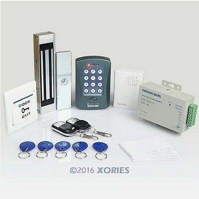 Remote Control Full Complete RFID Door Access Control Kit +180kg Magnetic Lock