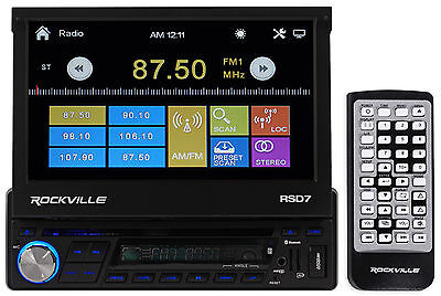 "Rockville 7"" Car DVD/CD Player Stereo Receiver Monitor+Bluetooth/iPhone/Pandora"