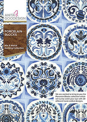 Anita Goodesign PORCELAIN BLOCKS Quilting Collection 311AGHD - NEW SEALED