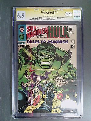 CGC 6.5 Signature Series Tales to Astonish #81 Autographed by Stan Lee!