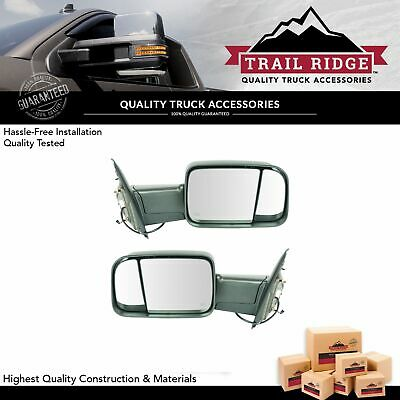 Flip Up Tow Mirror Heated Upgrade Power Fold LED Signal Textured Pair for Ram