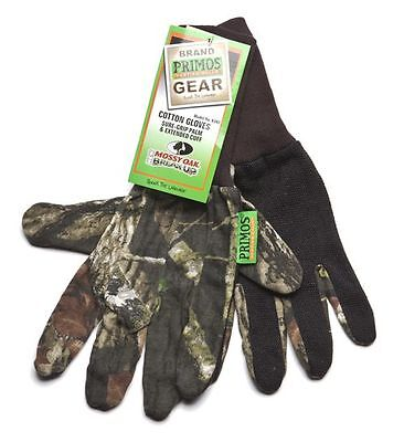 Primos Cotton Gloves Sure-Grip & Extended Cuff - Mossy Oak New Break-Up 6392