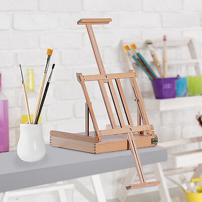 Wooden Easel Adjustable Art Folding Portable Sketch Painting Drawing Box Artist