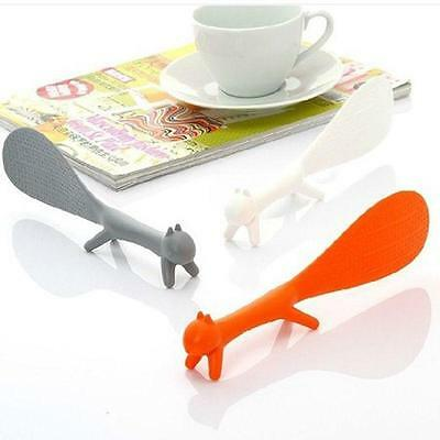 Cute Kitchen Squirrel Shape Non-stick Rice Paddle Scoop Spoon Ladle Novelty Tool