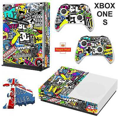 STICKERBOMB xbox one S skins decals stickers  + 2 controllers game