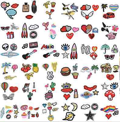 7PCS SET Embroidered Sew Iron On Patches Badge Fabric Applique Clothes Craft DIY